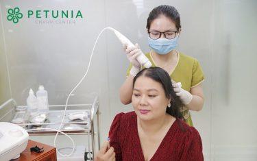 Da đầu khỏe, tóc mọc nhanh nhờ liệu pháp chăm sóc da đầu tại Petunia Charm Center